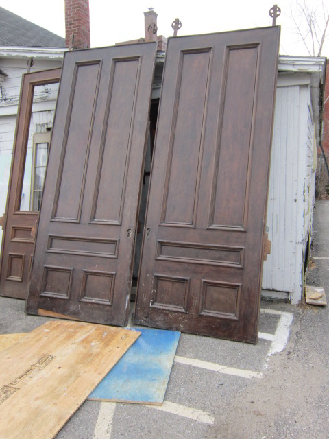Large Walnut Pocket Doors Antique Salvage