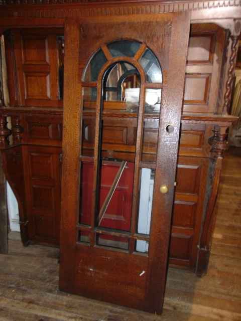 Antique Arched Glass Exterior door