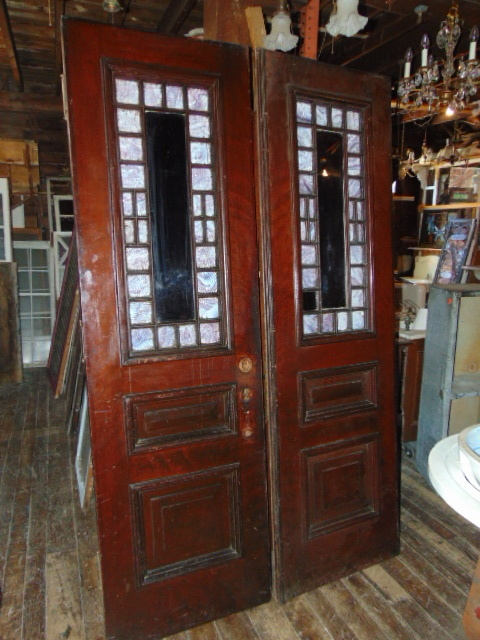 Antique Queen Anne Style Double Doors