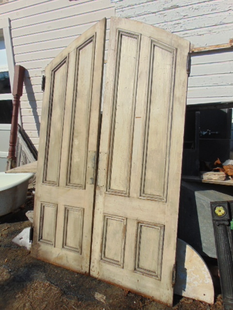 Antique Salvaged Gothic Peaked Double Doors