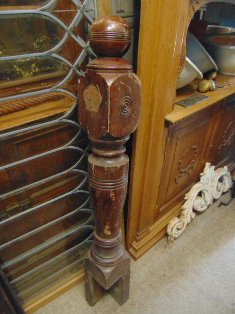 Antique Gothic Asymmetrical Newel Post