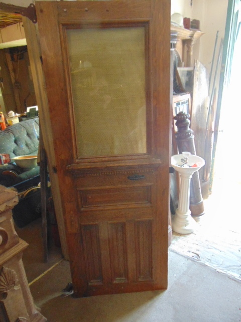 Victorian Etched Glass Double Door