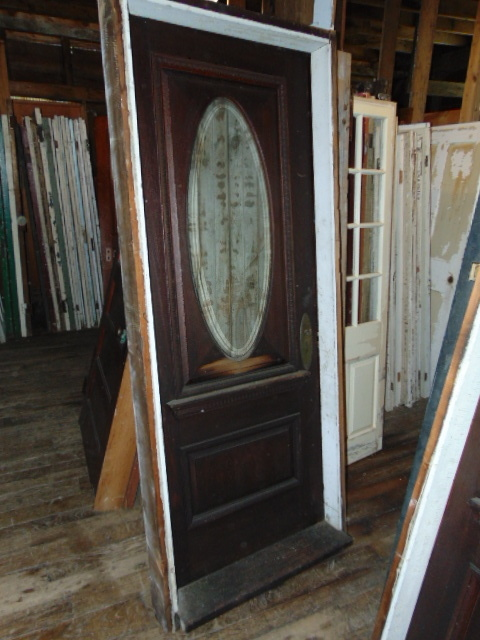 Antique Beveled Oval Front Door