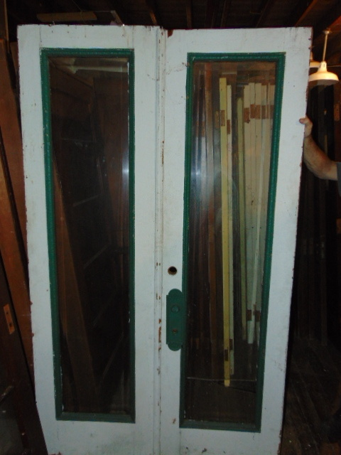 Antique Double Exterior Glass Doors