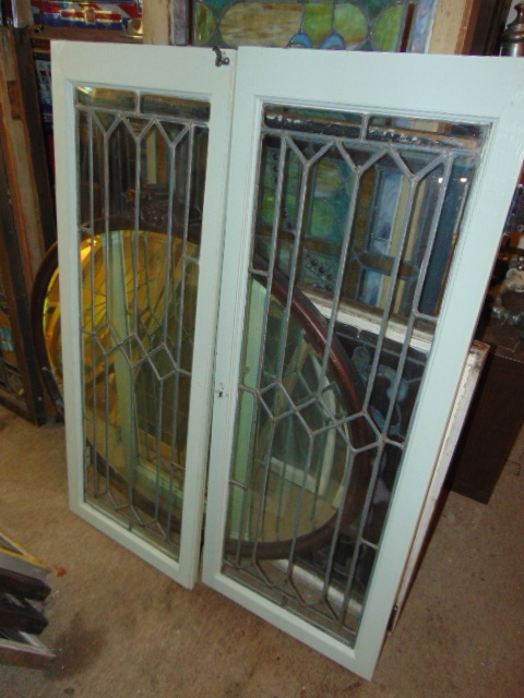 Leaded Glass Cabinet Doors