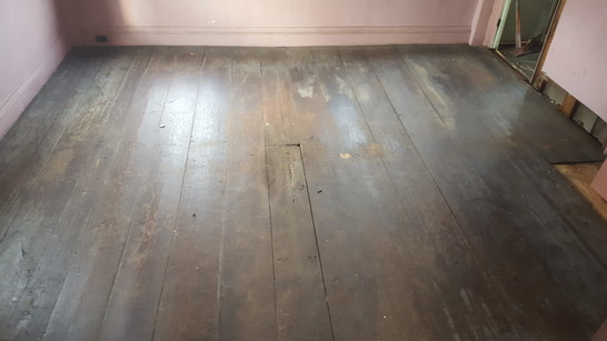 Antique Painted Floor Salvaged