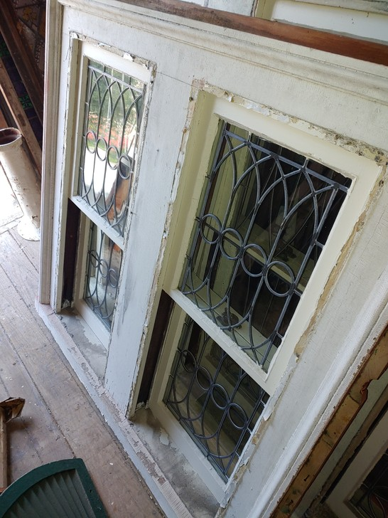 Leaded Glass Double Hung