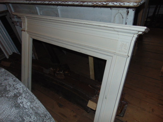 Orange Marble Mantel