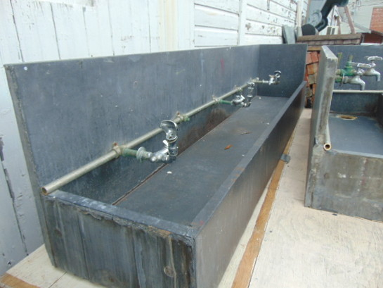 Antique Salvage Slate Utility Sink