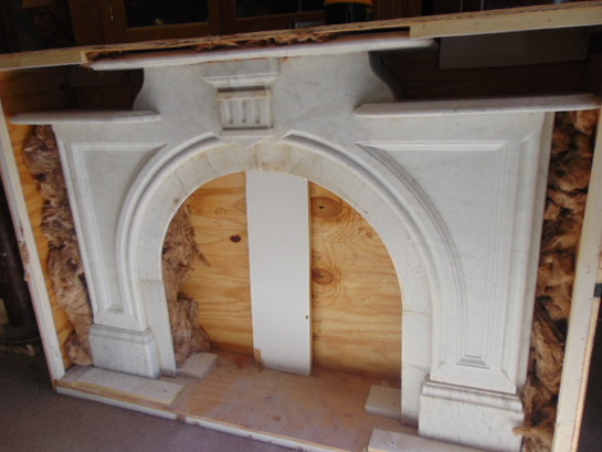 Antique Marble Mantel Simple