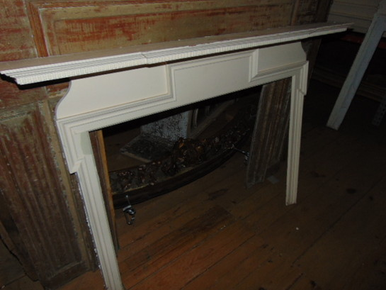 Carved Victorian Wooden Mantel Salvage Stripped