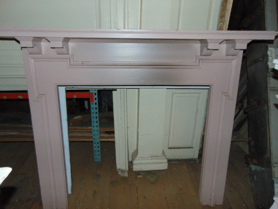 Antique Victorian Carved Mantel