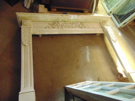 Oak Art Nouveau Mantel