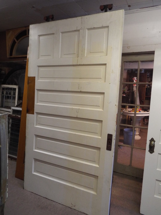 Antique Salvage Quartered Oak Pocket Door
