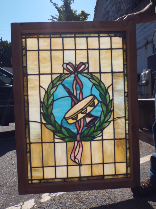 Antique Stained Glass Window Music