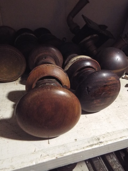 Early Wooden Door Knobs Antique