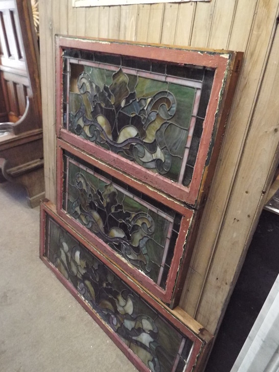 Set of Antique Stained Glass