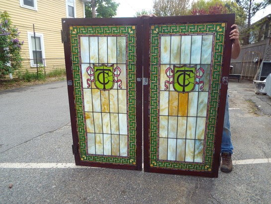 Stained Glass Cabinet Doors Monogram Large