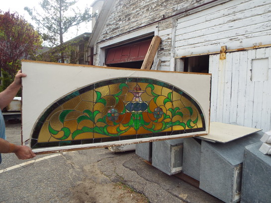 Large Stained Glass Antique Vines