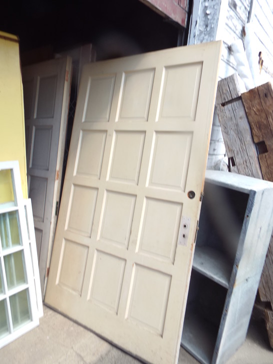 Antique Sliding Paneled Door