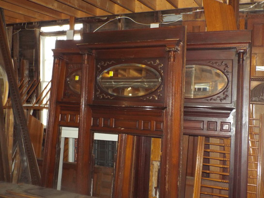 Set Matching Antique Wooden Mantels