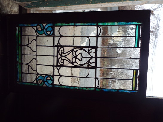 Stained Glass Window Blue Green