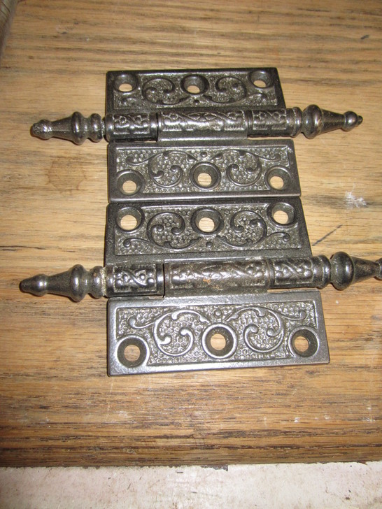 Antique Decorative Cast Iron Hinges
