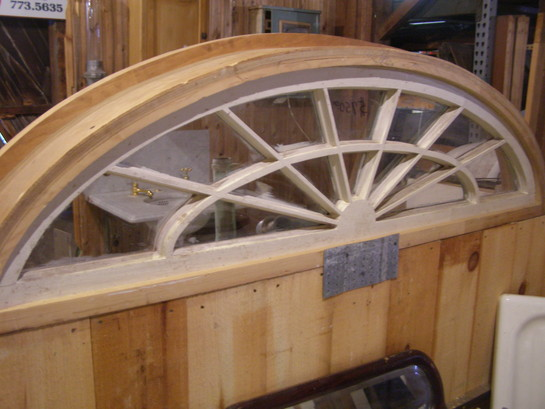 Antique Elliptical Window In Frame