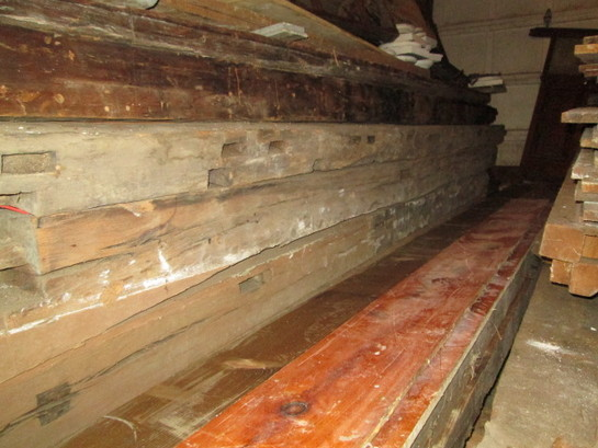 Salvaged Timber Beams